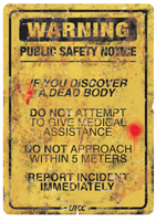Yellow Dawn - Post-apocalyptic wallpaper – UTOC Public Safety Notice from early days of Yellow Dawn – Infection Warning